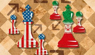 Persian Strategy Illustration by Greg Groesch/The Washington Times