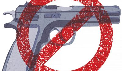 U.N. Gun Grab Illustration by Greg Groesch/The Washington Times