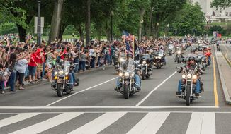 Rolling Thunder XXX Ride for Freedom, Memorial Weekend 2017. (Photo by Lee Stalsworth.)