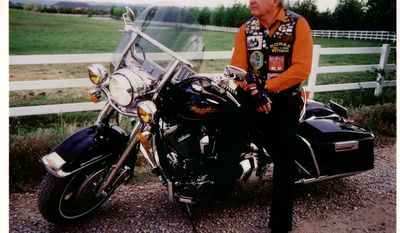 An Air Force veteran and avid motorcyclist, Sen. Ben Nighthorse Campbell rode many times with Rolling Thunder during his years in Congress. (Photo courtesy of Ben Nighthorse Campbell.)