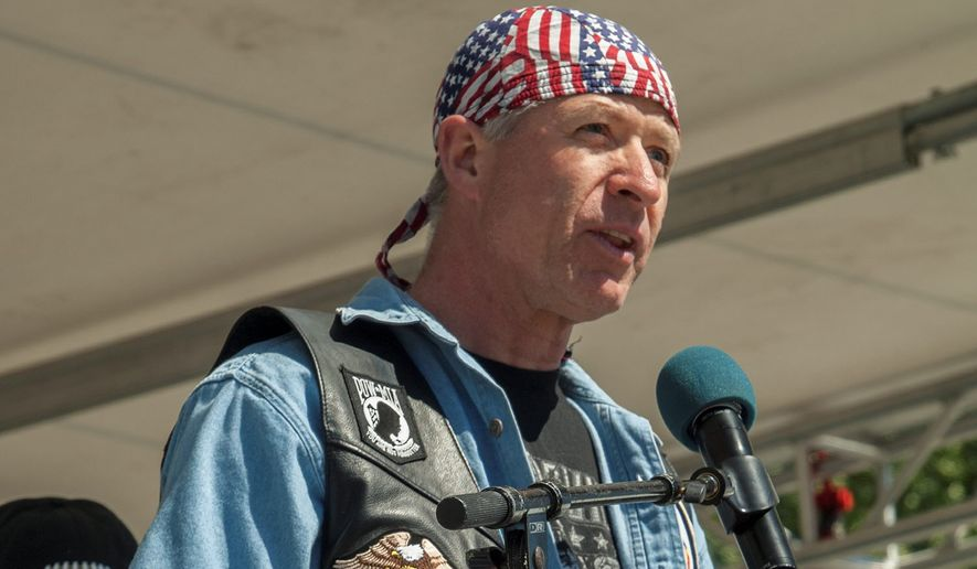 U.S. Navy Cmdr. Kirk Lippold has addressed Rolling Thunder Ride for Freedom in previous years. (Photo by Lee Stalsworth.)