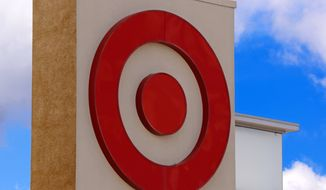 This May 3, 2017, file photo shows the Target logo on a store in Upper Saint Clair, Pa. (AP Photo/Gene J. Puskar, File)