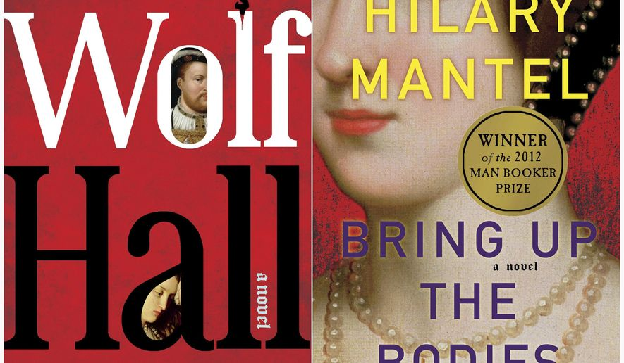 """This combination of book covers released by Henry Holt and Company shows """"Wolf Hall"""" and """"Bring Up the Bodies"""" both by British author Hilary Mantel. Mantel is ready to complete her million-selling trilogy of Thomas Cromwell novels. Henry Holt and Company announced Wednesday, May 22, 2019, that """"The Mirror & the Light"""" comes out in the U.S. on March 10, 2020, five days after HarperCollins Publishers releases it in the U.K. The first two Cromwell novels, """"Wolf Hall"""" and """"Bring Up the Bodies,"""" each won the Man Booker Prize. (Henry Holt and Company via AP)"""