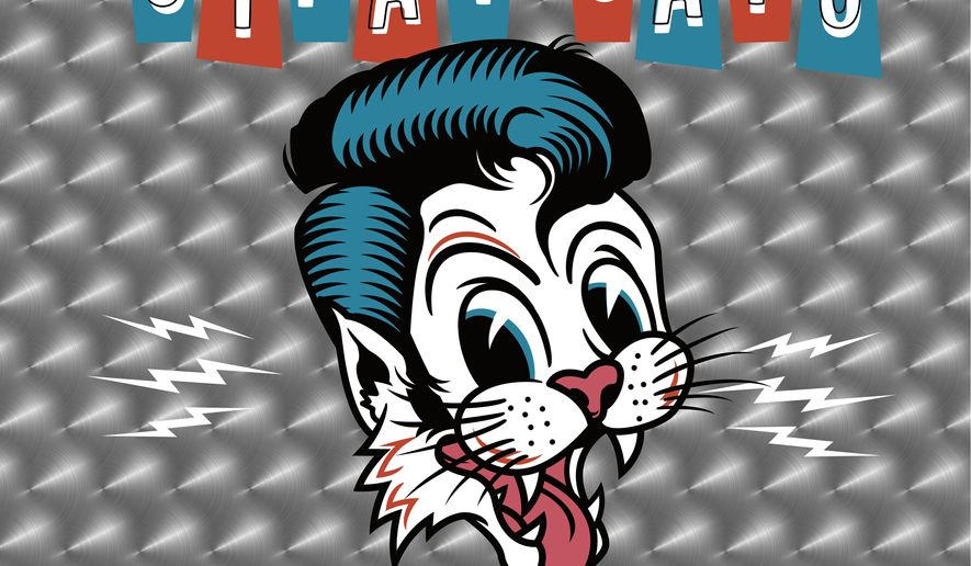"""This cover image released by Surfdog Records shows """"40,"""" the latest release by Stray Cats. (Surfdog Records via AP)"""