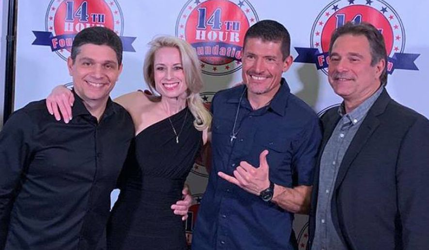 (From left) Jack Thomas Smith, Mandy Del Rio, Kris Paronto & Glenn Nevola at Las Vegas Premiere of War Heroes Pilot Episode on January 23, 2019. (Photographs courtesy of Jack Thomas Smith)