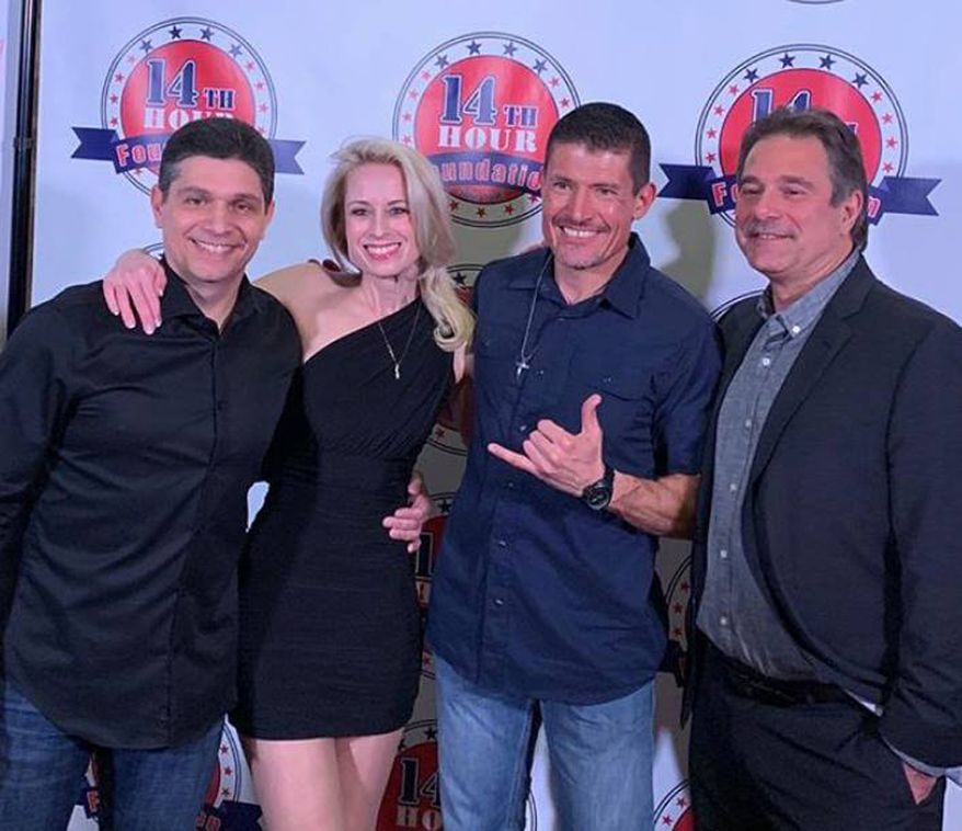 (From left) Jack Thomas Smith, Mandy Del Rio, Kris Paronto & Glenn Nevola at Las Vegas Premiere of War Heroes Pilot Episode on January 23, 2019. (Photographs courtesy of Jack Thomas Smith)