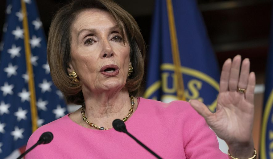 Speaker of the House Nancy Pelosi, D-Calif., meets with reporters at the Capitol in Washington, Thursday, May 23, 2019. Pelosi openly questioned President Donald Trump's fitness for office Thursday after a dramatic blow-up at the White House at a meeting on infrastructure. (AP Photo/J. Scott Applewhite)