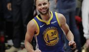 Golden State Warriors guard Stephen Curry reacts at the end of Game 4 of the NBA basketball playoffs Western Conference finals against the Portland Trail Blazers, Monday, May 20, 2019, in Portland, Ore. The Warriors won 119-117 in overtime. (AP Photo/Ted S. Warren) ** FILE **