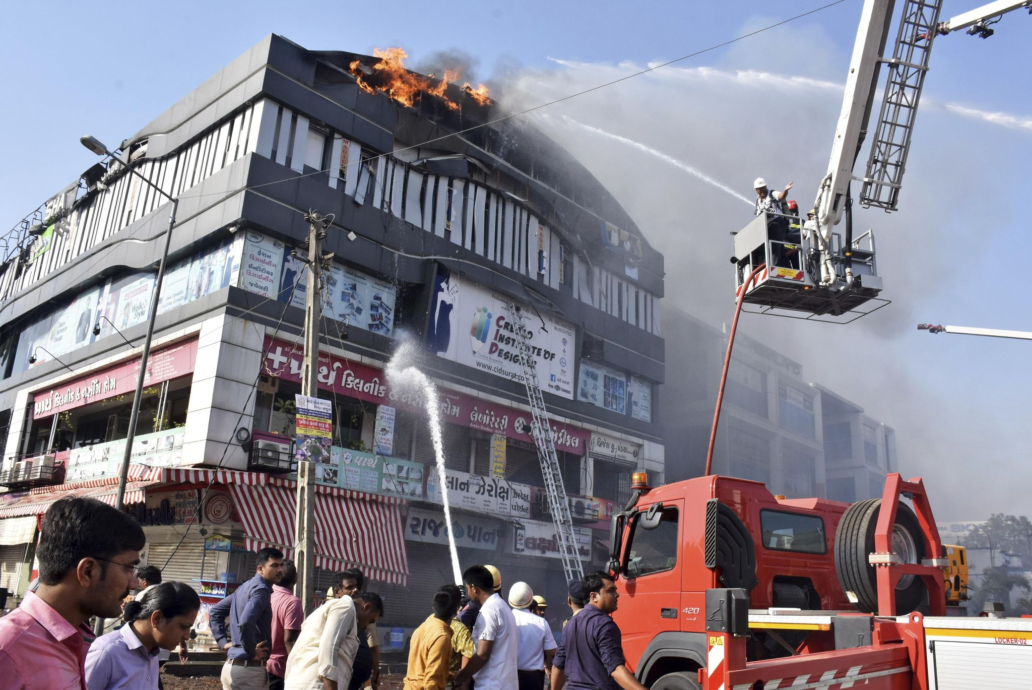 Fire in tutoring center kills 17 students in western India