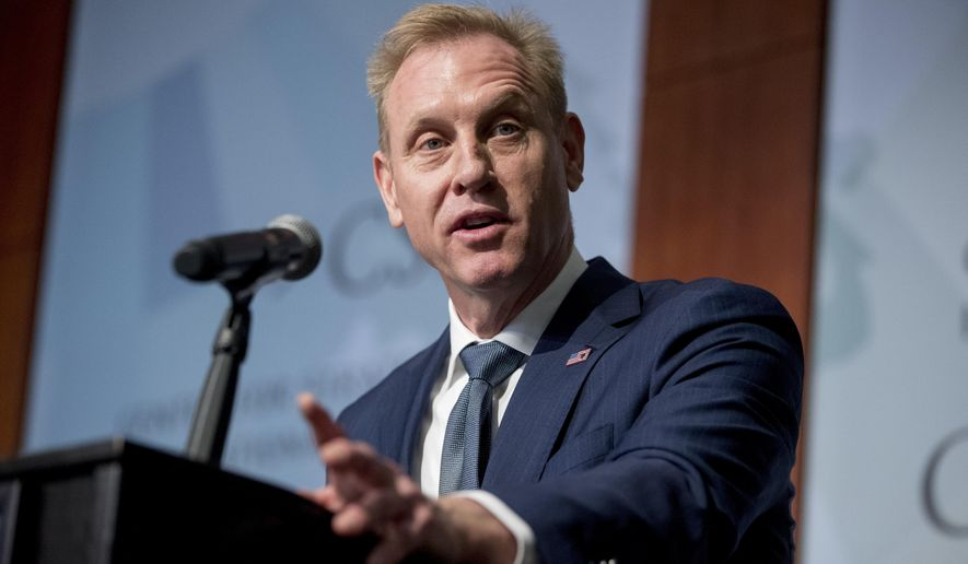 Acting Defense Secretary Patrick M. Shanahan used his appearance at the annual Shangri-La forum as an opportunity to publicly call out China and declare that the U.S. will stand firmly against Beijing's claim of near total authority over the vital South China Sea. (Associated Press/File)