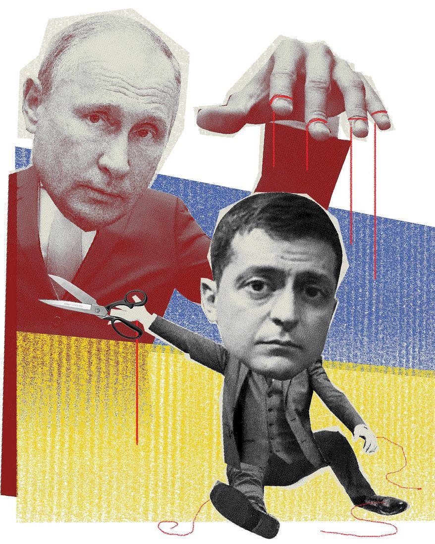 Illustratiohn on Ukraine's new president Zelenskiy by Linas Garsys/The Washington Times