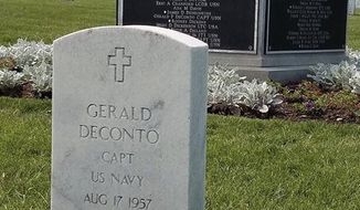 Capt. Gerald DeConto is buried at Arlington National Cemetery. He was killed in the Sept. 11, 2001, terrorist attacks on the Pentagon. (Photo courtesy of Jeff Manor)