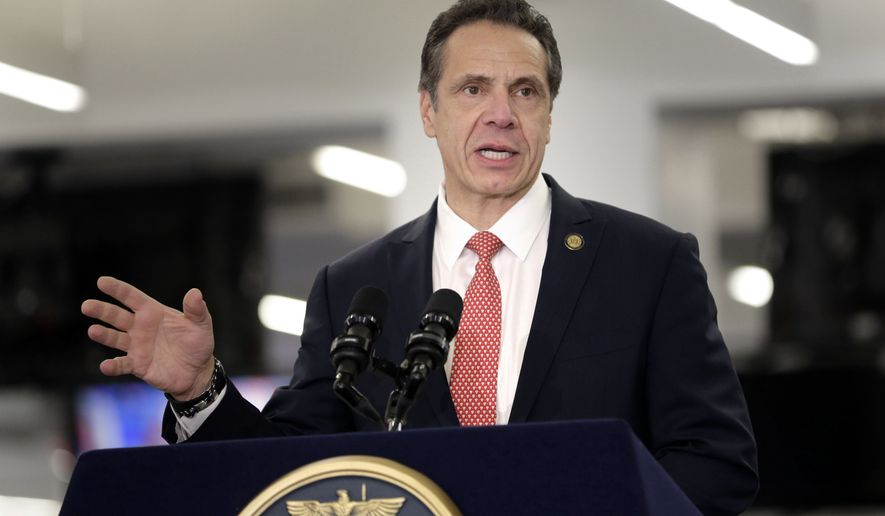 Gov. Andrew Cuomo addresses the media in New York. (AP Photo/Seth Wenig, File)