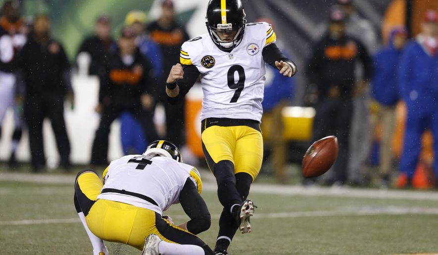 472f69269 Sports · Chris Boswell · Pittsburgh Steelers · FILE = In this Dec. 4, 2017,  file photo, Pittsburgh Steelers kicker