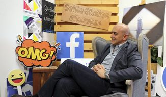 In this Monday, May 20, 2019, file photo, Facebook's Managing Director for the Middle East and North Africa Ramez Shehadi speaks to The Associated Press at the Facebook office in Dubai, United Arab Emirates. (AP Photo/Kamran Jebreili)