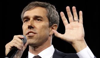 Democratic presidential candidate and former Texas congressman Beto O'Rourke speaks at a Service Employees International Union forum on labor issues in Las Vegas, April 27, 2019. (AP Photo/John Locher) ** FILE **