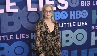 "Meryl Streep attends the premiere of HBO's ""Big Little Lies"" season two at Jazz at Lincoln Center on Wednesday, May 29, 2019, in New York. (Photo by Evan Agostini/Invision/AP)"