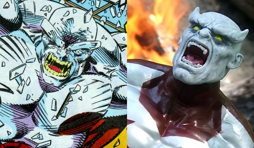 Comparing the comic book version of Caliban to Hasbro's Marvel Legends X-Men Build-A-Figure Caliban.