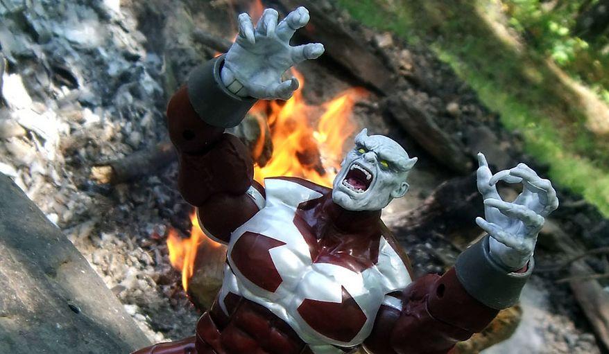 Hasbro's Marvel Legends X-Men Caliban Build-A-Figure (Photograph by Joseph Szadkowski / The Washington Times)