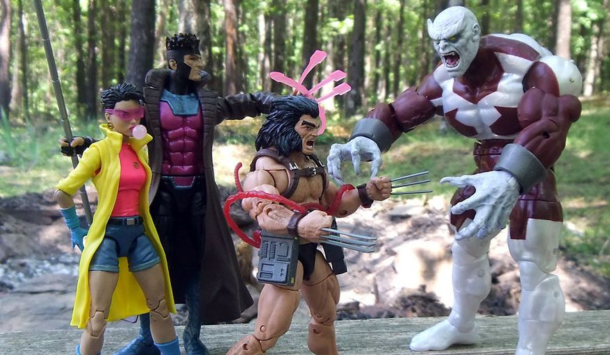 Hasbro's latest Marvel Legends X-Men action figure collection includes Jubilee, Gambit, Weapon X and Caliban. (Photograph by Joseph Szadkowski / The Washington Times)