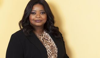 """This May 15, 2019 photo shows actress Octavia Spencer poses for a portrait at the Beckett Mansion in Los Angeles to promote her film, """"Ma."""" (Photo by Rebecca Cabage/Invision/AP)"""