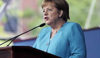 The long list of Trump administration grievances will loom large in the background when Secretary of State Mike Pompeo visits Berlin to make up for a much-anticipated meeting with German Chancellor Angela Merkel. (AP Photo/Steven Senne)
