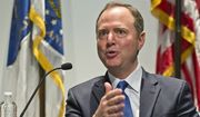 """Rep. Adam Schiff speaks at a conversation session with Los Angeles City Attorney Mike Feuer, titled """"A Constitutional Clash: A Separation of Powers In A Tumultuous Time,"""" at Los Angeles Police Headquarters Thursday, May 30, 2019. House Speaker Nancy Pelosi still isn't ready to impeach President Donald Trump. Rep. Adam Schiff, chairman of the House intelligence committee, said Thursday in California he's not urging impeachment yet, """"though the president seems to be doing everything in his power to get me there."""" Schiff warned that impeachment is not a """"cure all."""" He said, """"Impeachment doesn't remove this president. There is only one way to remove this president, and that's by voting him out of office."""" (AP Photo/Damian Dovarganes)"""