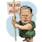 Illustration on Al Gore by Alexander Hunter/The Washington Times