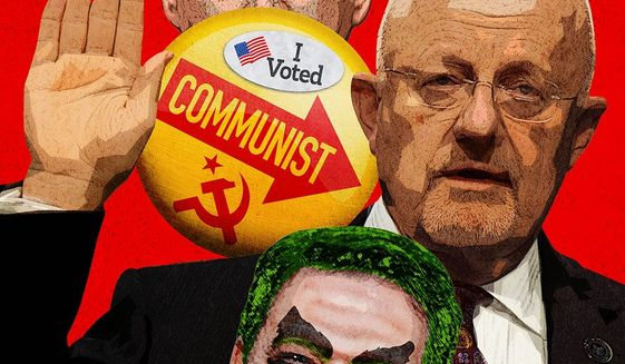 Commie Collage Illustration by Greg Groesch/The Washington Times