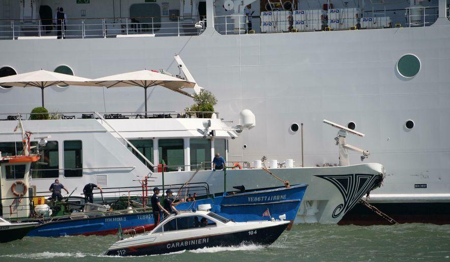 The Latest: Italian media post audio of cruise ship pilot