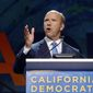 Democratic presidential candidate Rep. John Delaney drew boos when he told the California Democratic Party's convention this weekend that Medicare for All was a political pipe dream. He fought back against suggestions he drop from the race. (Associated Press)