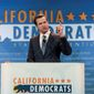 Then California Lt. Gov. Gavin Newsom speaks at the California Democrats State Convention in Anaheim, California, May 16, 2015. (AP Photo/Damian Dovarganes) ** FILE **