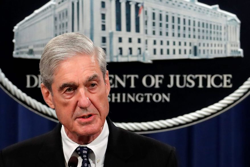 Special counsel Robert Mueller speaks at the Department of Justice Wednesday, May 29, 2019, in Washington, about the Russia investigation. (AP Photo/Carolyn Kaster) ** FILE **