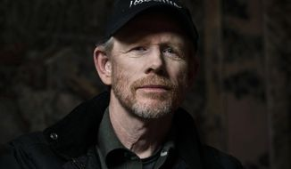 "In this April 30, 2019 file photo filmmaker Ron Howard poses for a portrait in New York to promote his documentary ""Pavarotti."" (Photo by Christopher Smith/Invision/AP, File)"