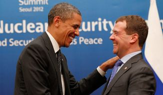 "A 2012 discussion in which President Obama told Russian President Dmitry Medvedev that he was facing his ""last election"" and as a result would have ""more flexibility"" once reelected is explained in ""From Cold War to Hot Peace,"" a book by Michael McFaul, a former U.S. ambassador to Russia. (Associated Press/File)"