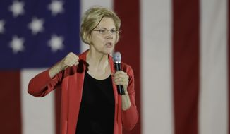 Democratic presidential candidate Elizabeth Warren appears to have decided that the best way to stand out is to campaign with a notebook full of policy proposals and, when the opportunities arise, a stern critique of what the Joseph R. Biden offers. (Associated Press/File)