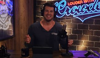 "Comedian Steven Crowder. (Image: YouTube, ""Louder with Crowder"" screenshot)  ** FILE **"