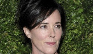 FILE - In this Nov. 17, 2008, file photo, designer Kate Spade attends the CFDA/Vogue Fashion Fund finalists event in New York. A year after Spade took her own life, the foundation that bears her name announced Wednesday, June 5, 2019, the completion of a $1 million pledge to support mental health services. (AP Photo/Evan Agostini, File)