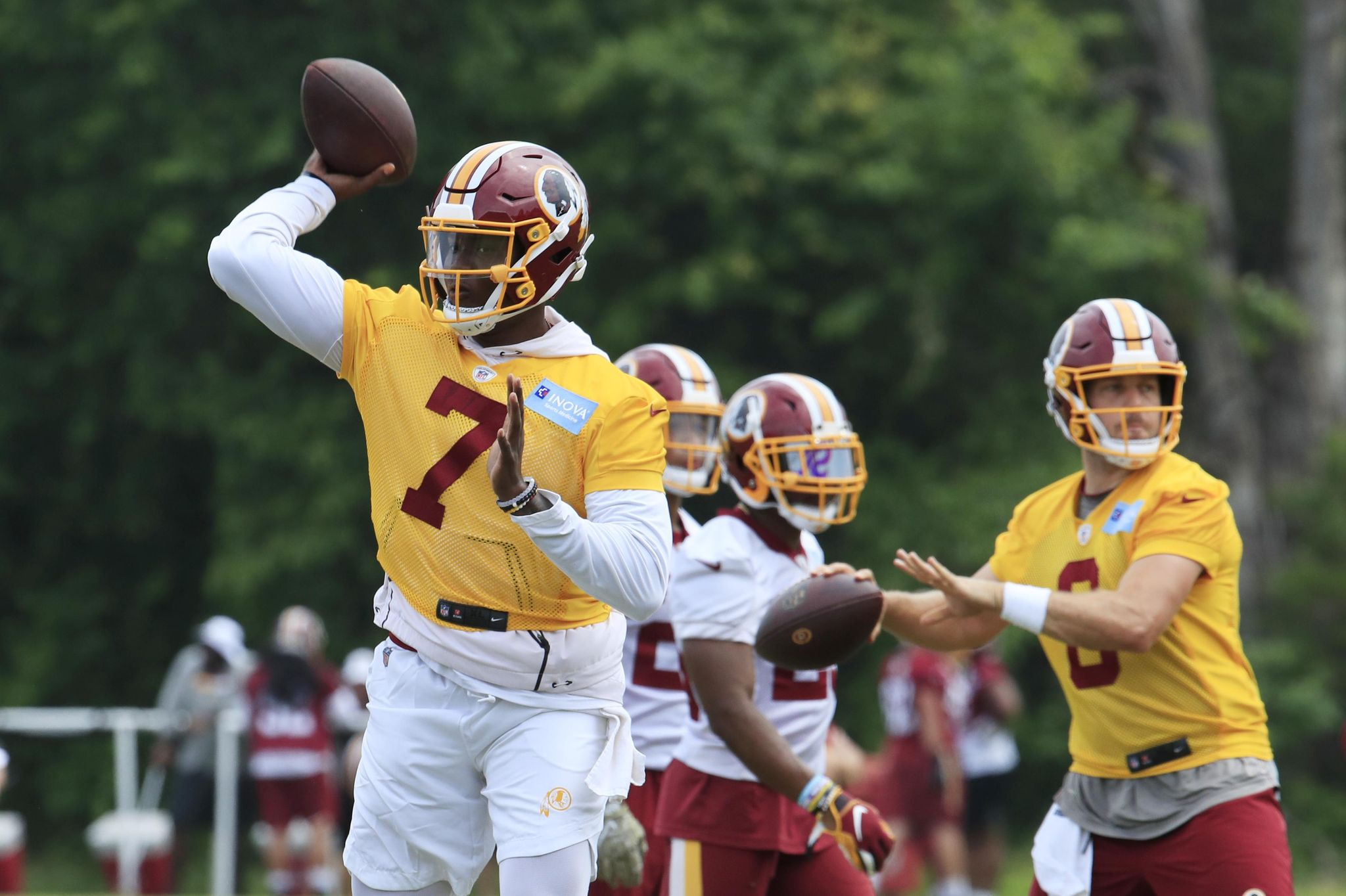 SNYDER: Let's just enjoy the quarterback competition and let it play out