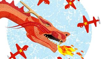 Vietnam Dragon Surveillance Illustration by Greg Groesch/The Washington Times