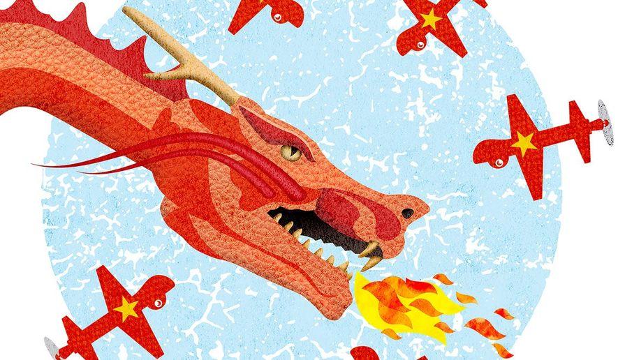 Vietnam Dragon Surveillance Illustration by Greg Groesch/The Washington Times