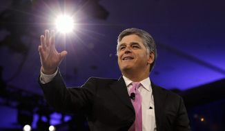 "Fox News' Sean Hannity topped the list of the nation's ""most important"" radio hosts, according to Talkers Magazine. (Associated Press) ** FILE **"