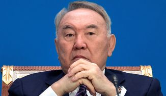 Former Kazakh President Nursultan Nazarbayev, who has headed his nation since the breakup of the Soviet Union, has been largely unchallenged until his decision to step down in March. Still, he is expected to hold on to power behind the scenes. (Associated Press/File)