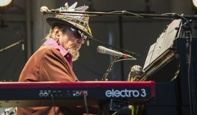 Dr. John performs during the Pilgrimage Music & Cultural Festival on Sept. 26, 2015, in Franklin, Tenn. (Photo by Amy Harris/Invision/AP)