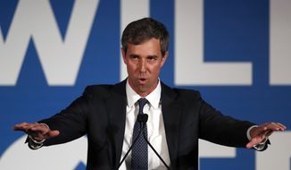 Democratic presidential candidate Beto O'Rourke speaks during the I Will Vote Fundraising Gala Thursday, June 6, 2019, in Atlanta. (AP Photo/John Bazemore)