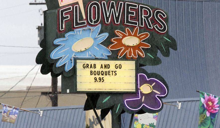 This March, 6, 2013, file photo shows Arlene's Flowers on Lee Boulevard in Richland, Wash. The Washington Supreme Court on Thursday, June 6, 2019, ruled state courts did not act with religious animus when they ruled that the Richland florist broke the state's anti-discrimination law by refusing on religious grounds to provide flowers for the wedding of a gay couple. (Bob Brawdy/The Tri-City Herald via AP, File)
