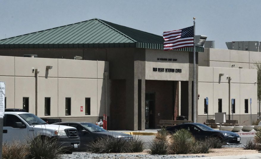 A California federal detention facility is shown in this April 20, 2019 file photo. (AP Photo/Richard Vogel) **FILE**
