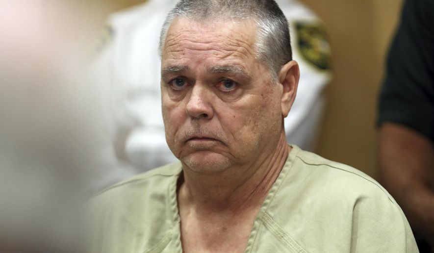 Former Broward Sheriff's Office deputy Scot Peterson appears in the courtroom for a hearing at the Broward County Courthouse in Fort Lauderdale, Fla., Thursday, June 6, 2019. (Amy Beth Bennett/South Florida Sun-Sentinel via AP, Pool)