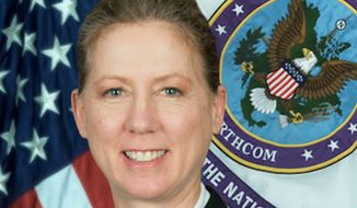 U.S. Army Brig. Gen. Laura L. Yeager. (Photo by Joint Task Force North. Sceenshot from https://www.jtfn.northcom.mil/About-Us/Biographies/Bio-Article-View/Article/1266386/us-army-brig-gen-laura-l-yeager/)