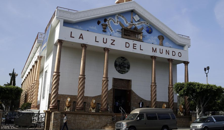 The exterior of a La Luz del Mundo church branch is seen Thursday, June 6, 2019, in Los Angeles. California's top prosecutor said Thursday that he believes there are more victims of child sex abuse than those listed in charges against the leader of Mexico-based megachurch La Luz del Mundo and several followers. (AP Photo/Marcio Jose Sanchez)